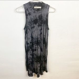 Ginger l High Neck Tie Dyed Swing Dress